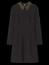 Bild von Kleid mit Nieten Applikation am Kragen
