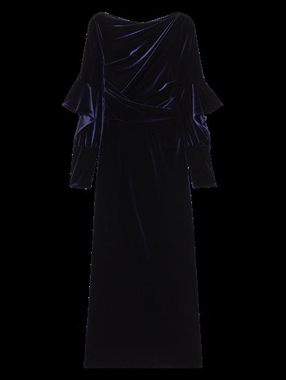 Bild von Abendkleid aus Samt in Wickel-Optik