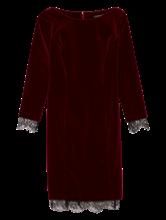 Image sur Robe de soirée avec empiècement dentelle
