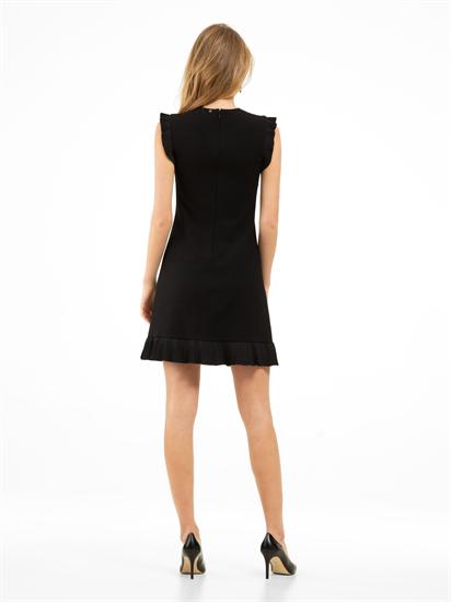 Bild von Jersey Kleid mit Plissee Volants