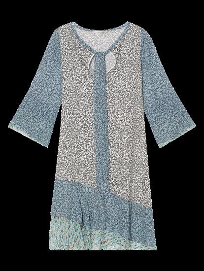 Image sur Robe imprimée avec noeud