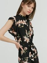 Bild von Kleid mit Blumen-Print und Volant