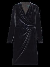 Bild von Cocktailkleid aus Samt in Wickel-Optik