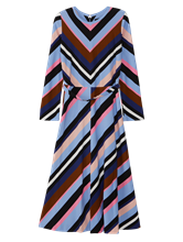 Bild von Kleid mit Print und Gürtel