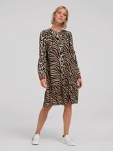 Bild von Kleid mit Animal-Print und Volant