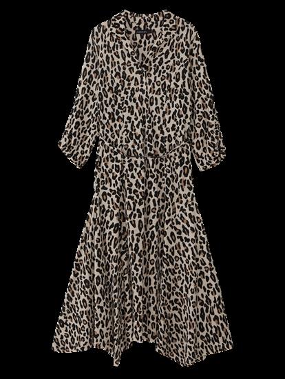 Bild von Kleid mit Leo-Print und Gürtel