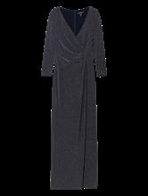 Bild von Abendkleid mit Lurex in Wickel-Optik