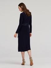 Bild von Kleid in Wickel-Optik mit Schleife
