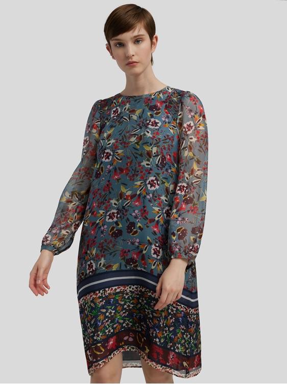Image sur Robe en soie et imprimé floral