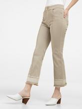 Bild von Verkürzte Jeans im Used-Look