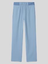 Image sur Pantalon drapé mélange de matières