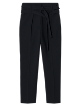 Image sur Pantalon à pinces avec double ceinture
