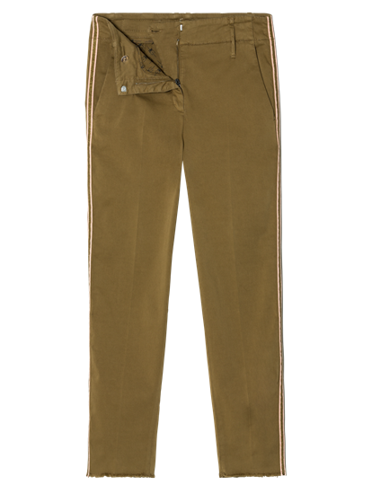 Image sur Pantalon chino avec rayure latérale