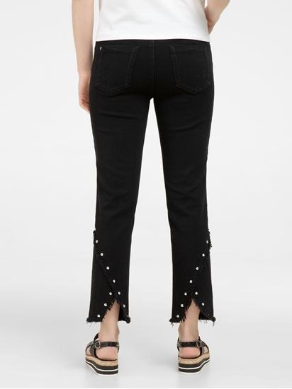 Image sur Jeans mit Nieten und Fransen