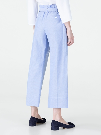 Image sur Jupe-culotte avec ceinture à nouer