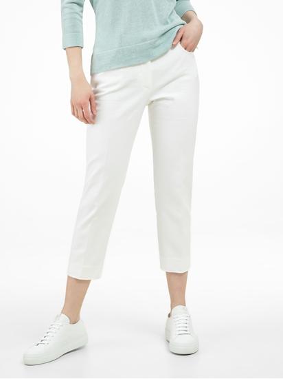 Image sur Pantalon raccourci texturé
