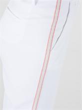 Image sur Chino raccourci à la cheville rayures latérales