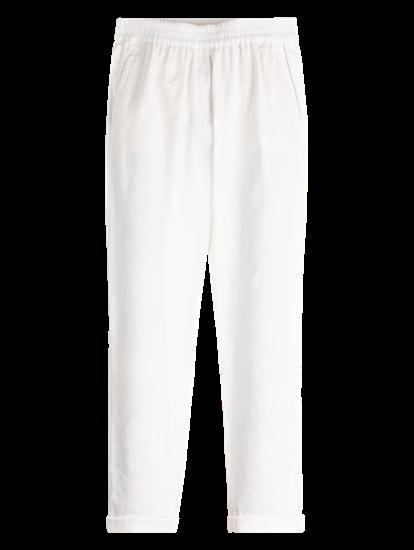 Image sur Pantalon lin avec revers