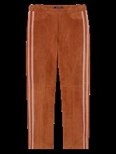 Bild von Hose aus Veloursleder mit Streifen