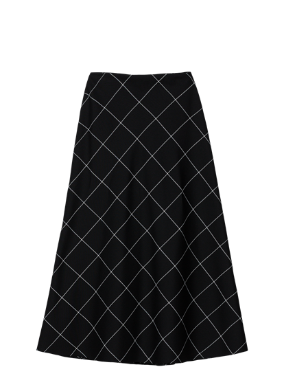 Image sur Jupe à carreaux grille