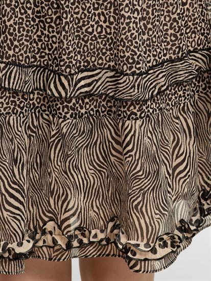 Bild von Jupe mit Animal-Print und Volants