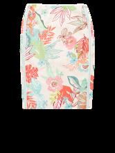 Image sur Jupe imprimé floral et texturée