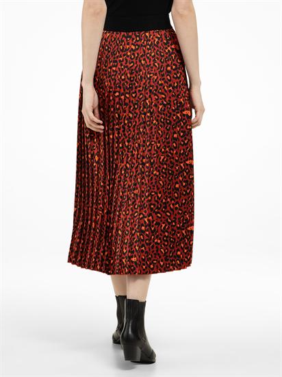 Image sur Jupe imprimé léopard et plissé
