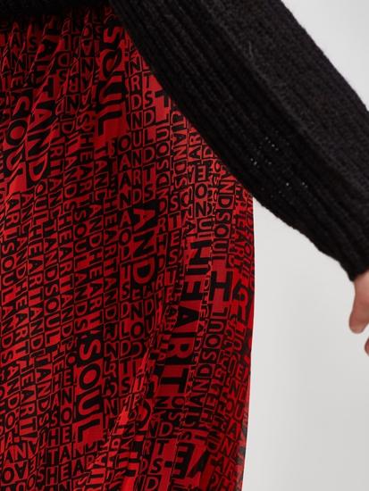 Image sur Jupe avec plissé et imprimé