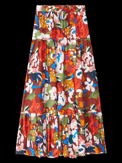 Image sur Jupe imprimé floral et ceinture