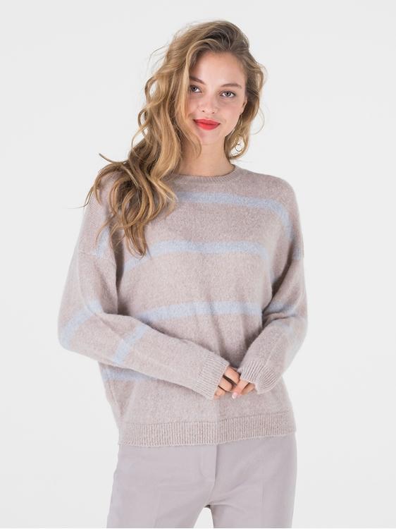 Image sur Pullover rayé laine alpaca