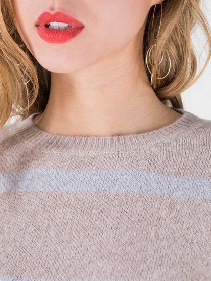 Bild von Pullover aus Alpakawolle mit Streifen
