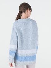 Image sur Pullover moucheté à rayures