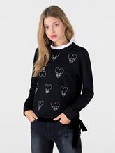 Bild von Sweatshirt mit abnehmbarem Kragen-Einsatz