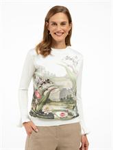 Image sur Pullover mélange de matières et imprimé floral