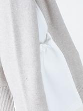 Image sur Cardigan avec empiècement en tissu néoprène