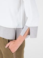 Image sur Pullover avec  ourlet contrasté