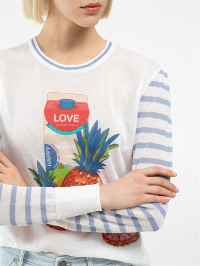 Image sur Pullover imprimé à rayures