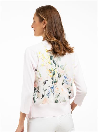 Image sur Cardigan mélange de matières et imprimé floral