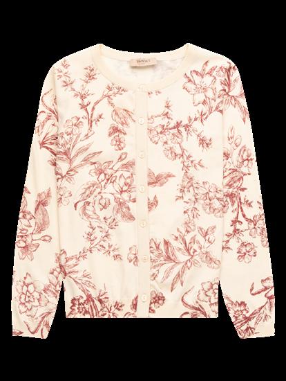 Image sur Cardigan imprimé floral