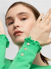 Bild von Pullover mit Knöpfen und Rüschen am Ärmel