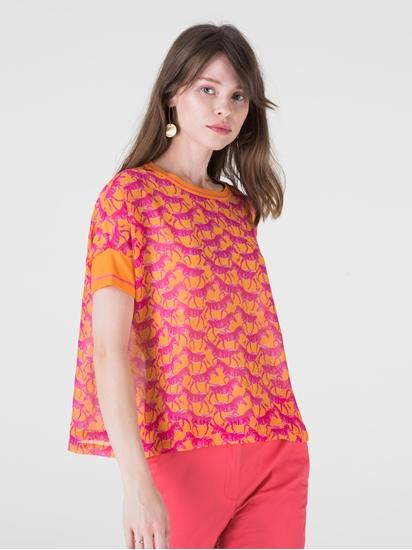 Bild von Shirt mit Strickärmeln