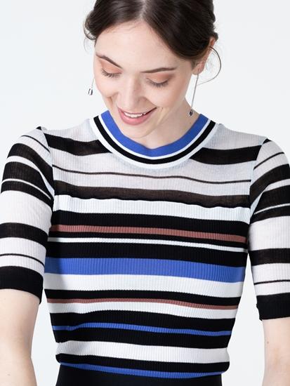 Bild von Pullover mit Rippen und Streifen