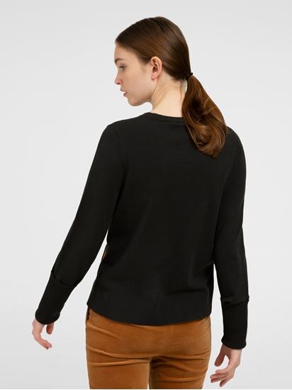 Image sur Pullover avec boutons et rayures contrastes