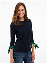 Image sur Pullover à rayures et noeuds aux manches