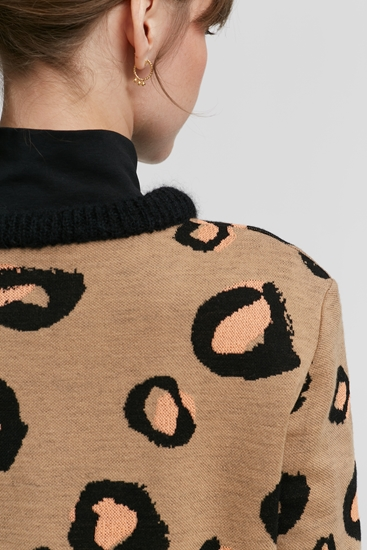 Image sur Pullover maille avec motif léopard
