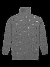Image sur Pullover maille avec col roulé et pois