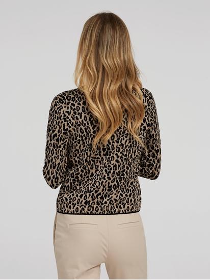 Image sur Cardigan avec imprimé léopard
