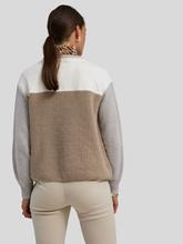 Image sur Pullover en maille avec détail en jersey