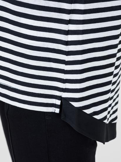 Bild von Shirt mit Streifen und Kapuze