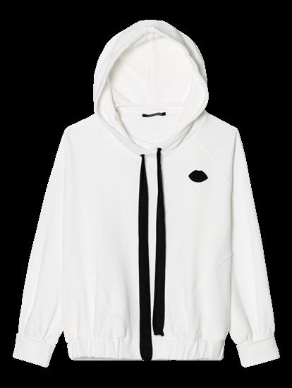 Image sur Sweatshirt à capuche avec élastique